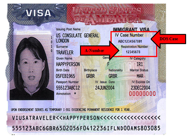 Immigration VISA stamp. Source: www.uscis.gov